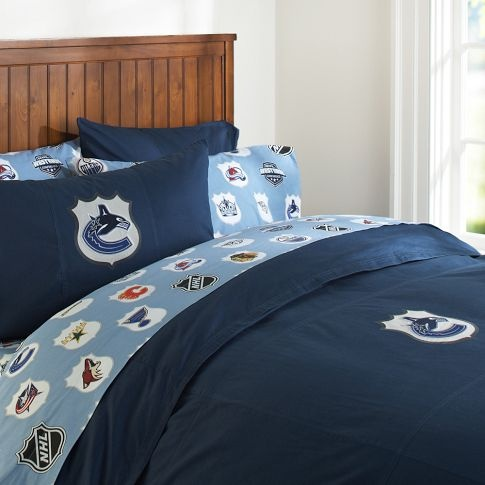 Vancouver Canucks Patch Duvet Cover, Twin, Navy