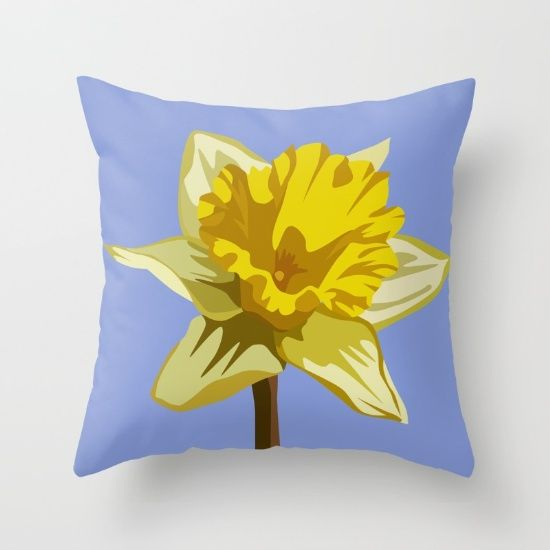 DAFFODIL [throw pillow] by MESSYMISSY76