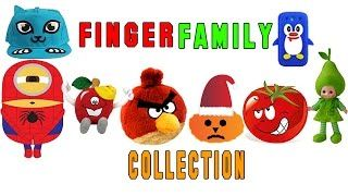 Top 5 Finger Family (Guppies, Mcstuffins,Angry Birds,peppa pig,Nemo) Rhymes Collection