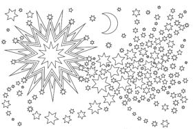 Weihnachtssterne Ausmalbilder Sterne zu Weihnachten