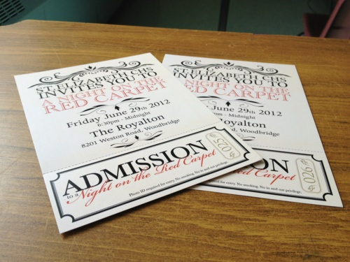 Prom Tickets, A Bit To Tear Off And A Bit To Keep As A Reminder  Prom Tickets Design