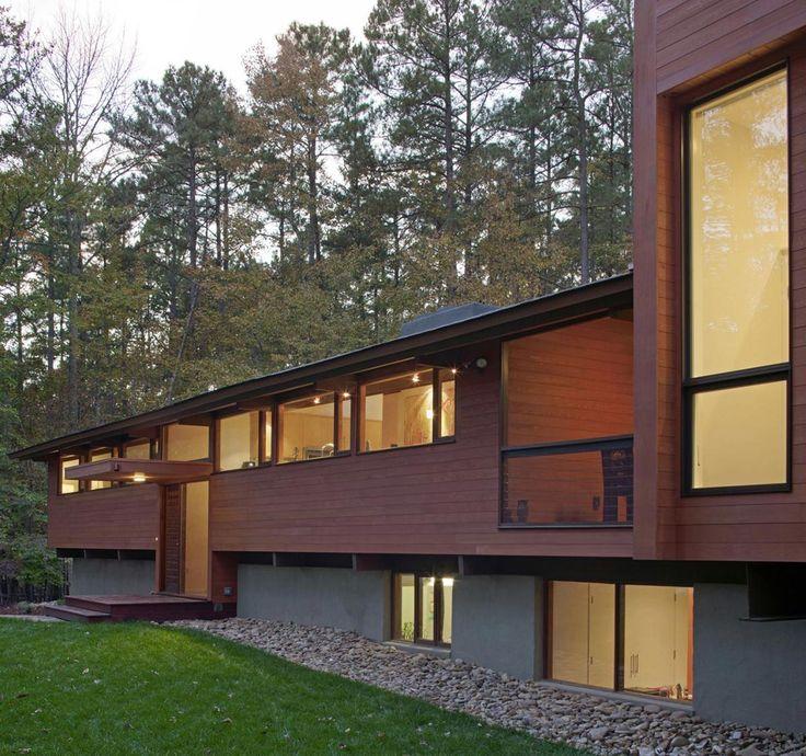 1000 images about split levels mid century paint for Modern split level homes