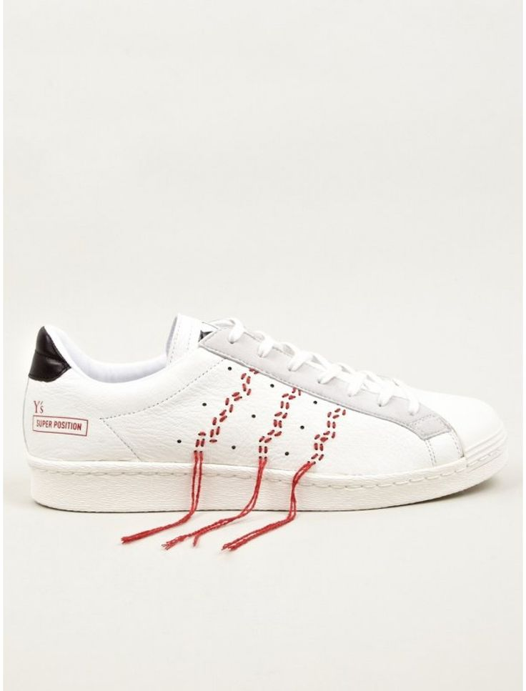 adidas Originals x Y's Men's White Super Position Sneakers ...