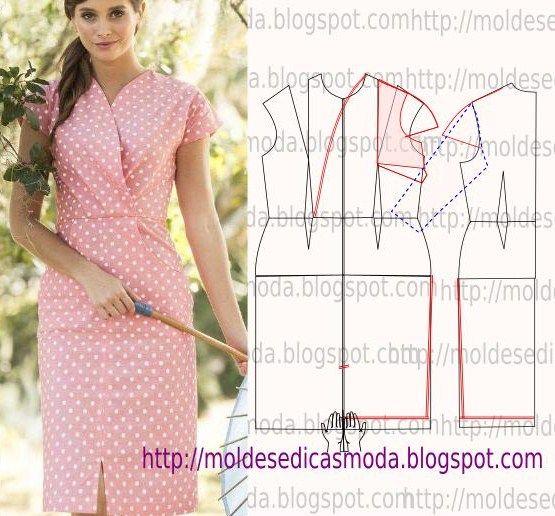 Passo a passo molde de vestido, Corte e costura fácil.