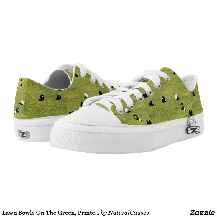 Lawn Bowls On The Green, Printed Zipz Sneakers