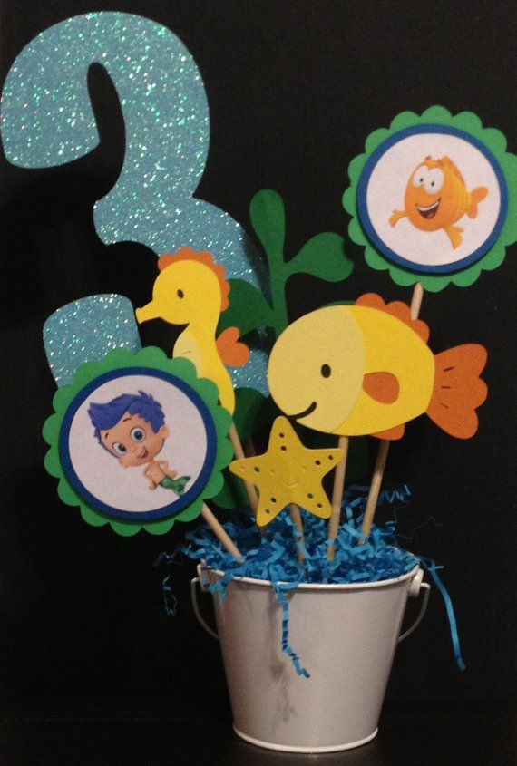 86 best images about bubble guppies on pinterest bubble guppies birthday seaweed and party ideas - Bubble guppies center pieces ...