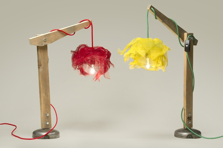 Small Tulle Lamps