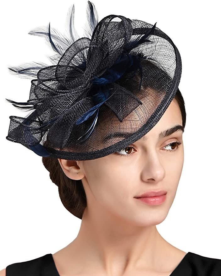 Fascinators Hat For Women Kentucky Derby Headband Wedding Feathers Tea Party Hair Clip Amazon Ca Clothing Access Hat Hairstyles Party Hair Clips Fascinator