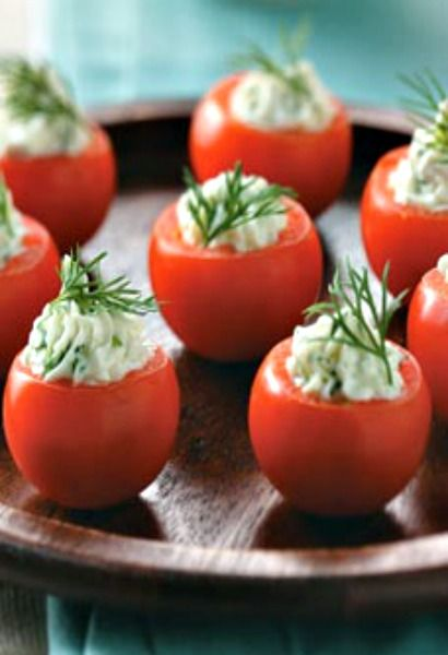Cucumber-Stuffed Cherry Tomatoes - play with idea