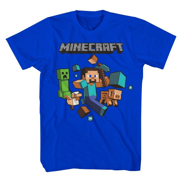 Boys' Minecraft Runaway T-Shirt - Royal XS, Toddler Boy's, Blue
