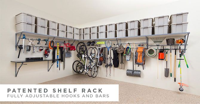 Easy garage storage ideas and solutions. Cut the clutter in your garage with these ideas. Perfect for holiday decorations