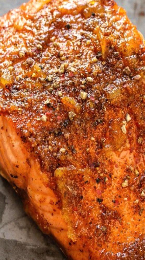 Orange Glazed Cajun Salmon : Layers of Happiness