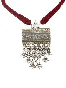 Zevar Tribal Silver Amulet