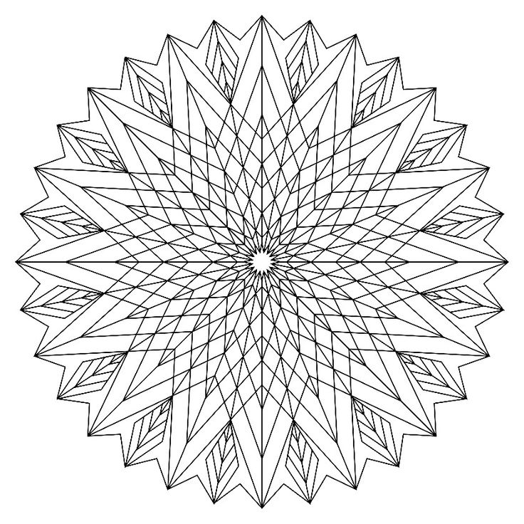 intricate abstract coloring pages for adultsintricate coloring pagesprintable picturescolouring - Intricate Mandalas Coloring Pages