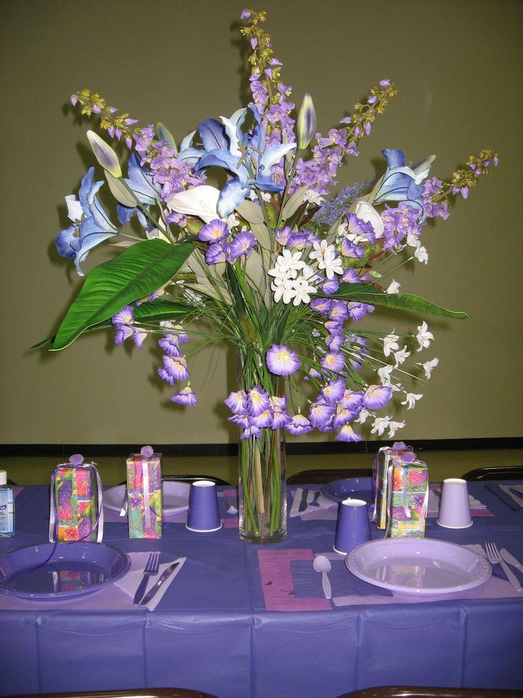 Purple Table Centerpiece Rainbow Tea Pinterest Tables Purple Table And Purple