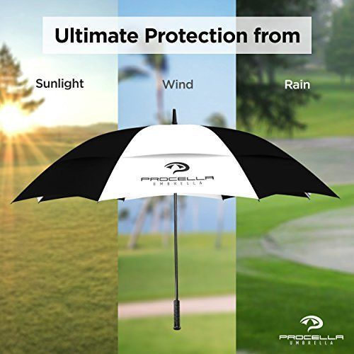 UV Sun Protection Umbrella Rain Folding Compact Travel Windproof Layer