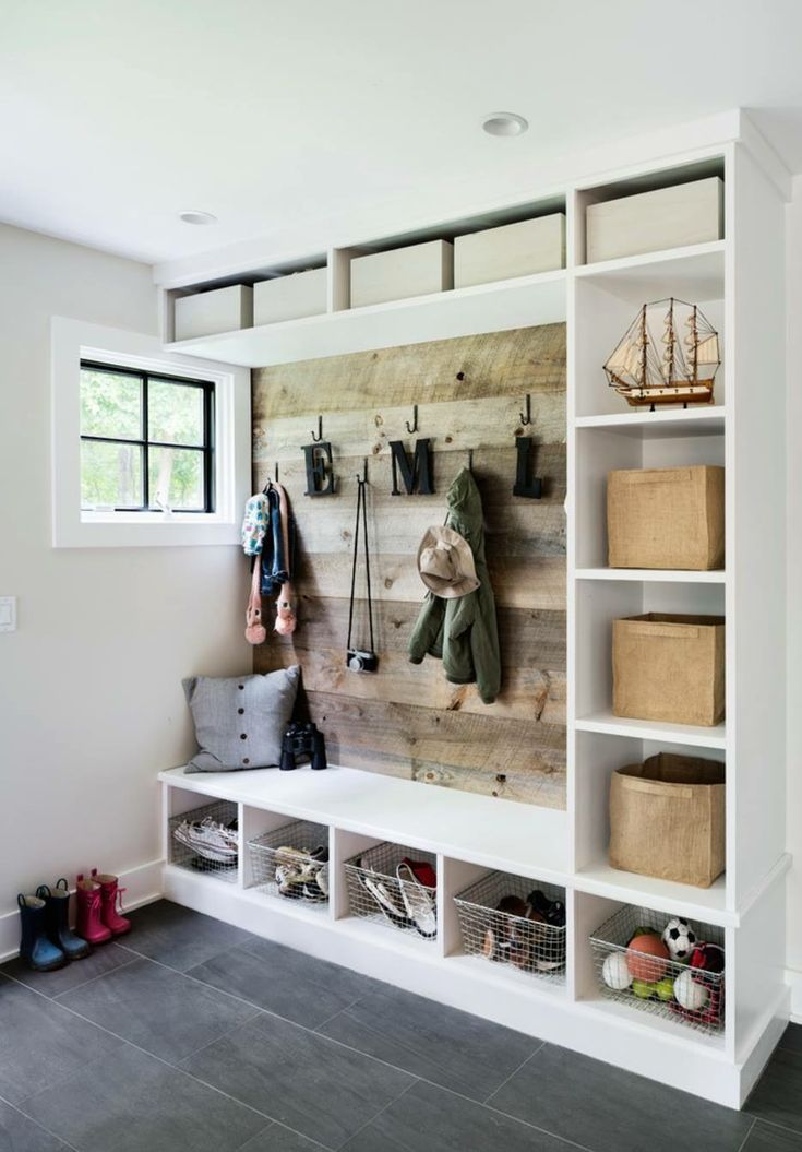 Mud room at back entrance - functionality