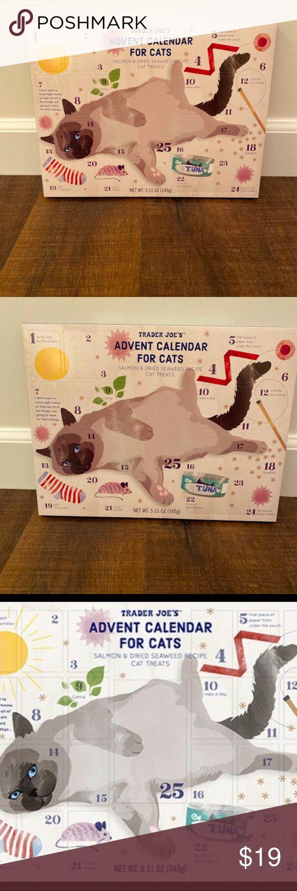 Trader Joe's Advent Calendar For Cats Treats 2019 Cat