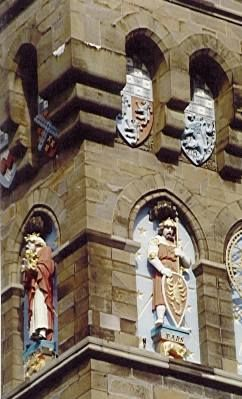 Detail from the Clock Tower at Cardiff Castle, Cardiff, Wales