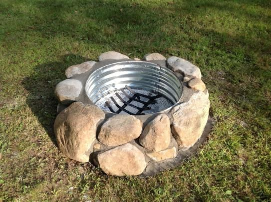 galvanized and rock fire pit ring galvanized fire pit ring pinterest rock fire pits fire pit ring and rock