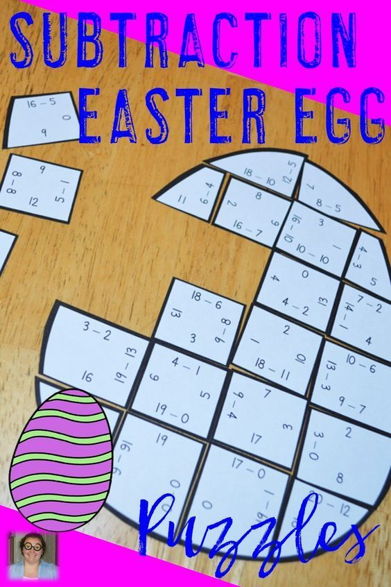 Easter Subtraction Egg Shaped Puzzles - These puzzles are perfect for math centers during Easter week. Each of the three puzzles will have students answer 34 different subtraction problems within 20. They're perfect for first, second, or third grade students. Use them for early or fast finishers, review, enrichment, GATE, critical thinking, math centers, and more! Click through to pick yours up today! $ {1st, 2nd, or 3rd graders}