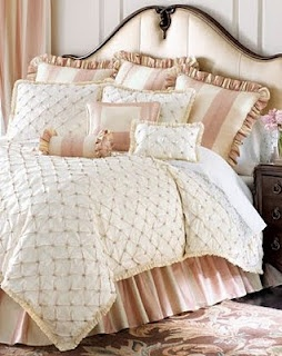 Beautiful Quilted Duvet..Love The Headboard