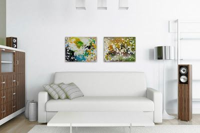 An Abstract A Day: Featured Paintings : Sea Spell + Memory Keeper