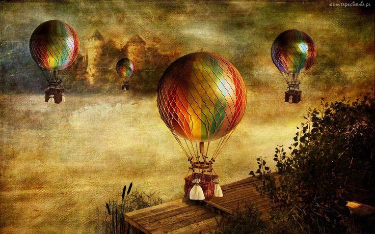 Obraz, Olejny, Balony