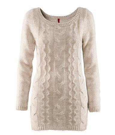 Вязаные длинные свитера женские