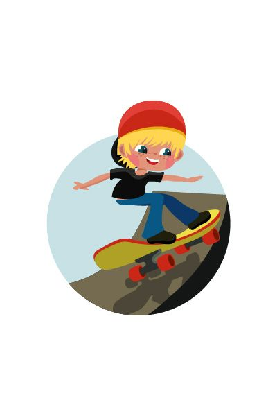 Kid Skateboarding Vector Image #skateboarding #vector http://www.vectorvice.com/kids-activities-vector