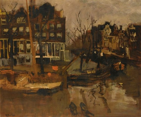 George Hendrik Breitner, a view of the brouwersgracht, Amsterdam