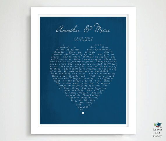 Hey, I found this really awesome Etsy listing at https://www.etsy.com/listing/127853792/1st-dance-song-wedding-song-print-custom