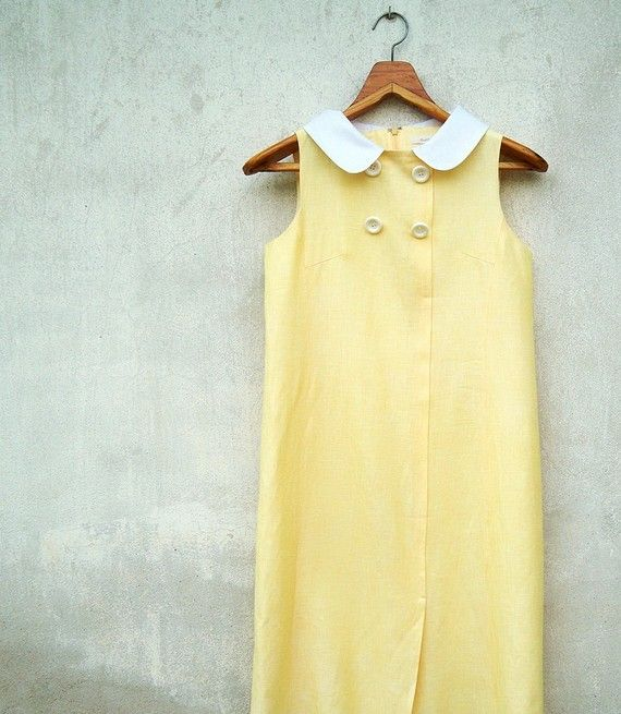vintage buttercup day dress $24