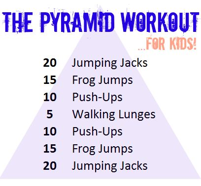 There's no core muscle work in this, so I'd add some sit-ups, curl ups, planks, et cetera, depending on the age group.