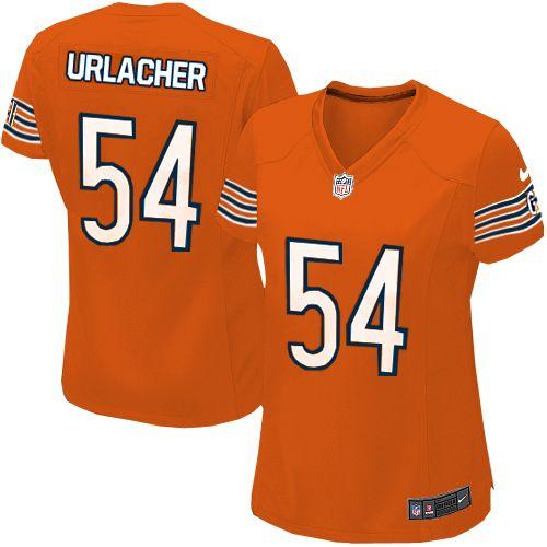 Nike Chicago Bears Brian Urlacher Limited Jersey Women Orange #54 Alternate NFL Jerseys Sale nfl jersey shop