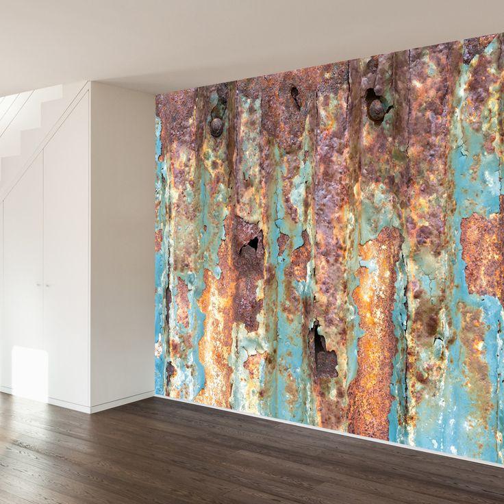 Rusted Metal |Paul Moore Removable Mural | WallsNeedLove