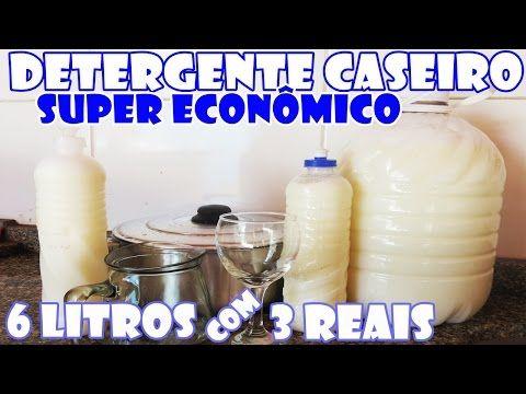 Com R$ 3,00 reais você faz 6 litros de DETERGENTE CASEIRO - Fácil e Econômico - Fran Adorno - YouTube