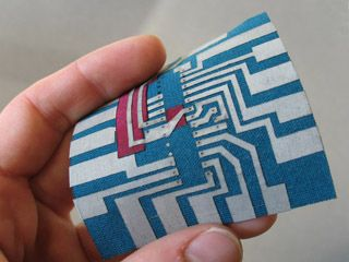 New Textiles: Designing and building a fabric printed circuit board
