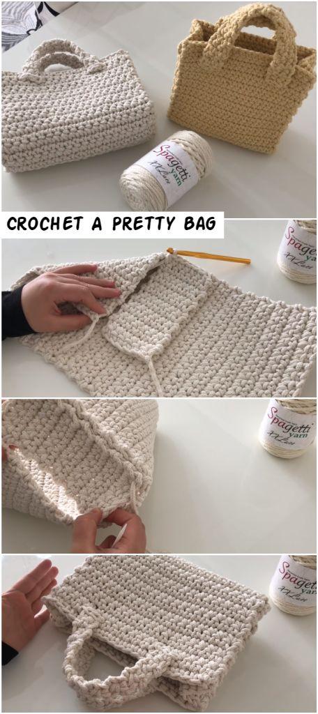 How To Crochet A Pretty Bag – Crochetopedia