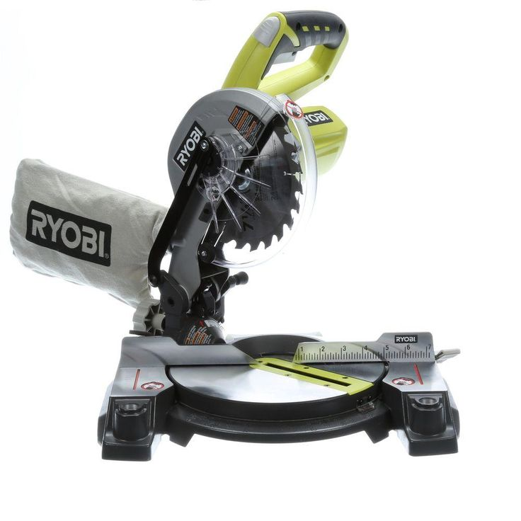 Ryobi ONE+ 18 Volt 7-1/4 in. Miter Saw (Tool-Only)-P551 - The Home Depot