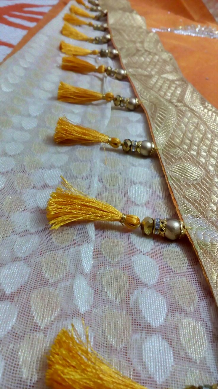 A modern version of beaded saari kuchu...