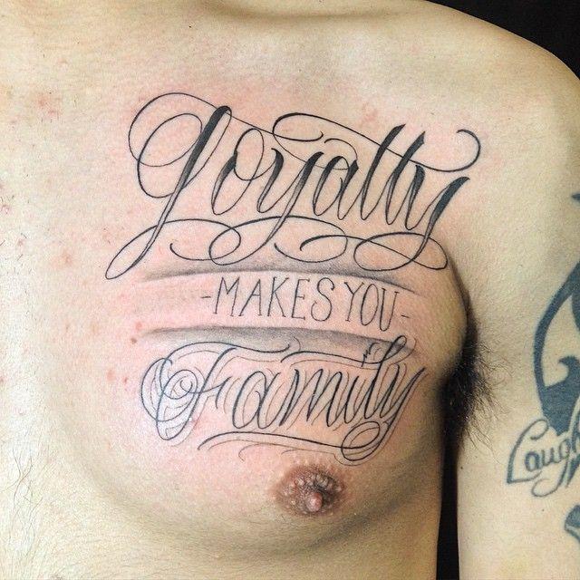 Quote Lettering Saullira: 25+ Best Ideas About Loyalty Tattoo On Pinterest