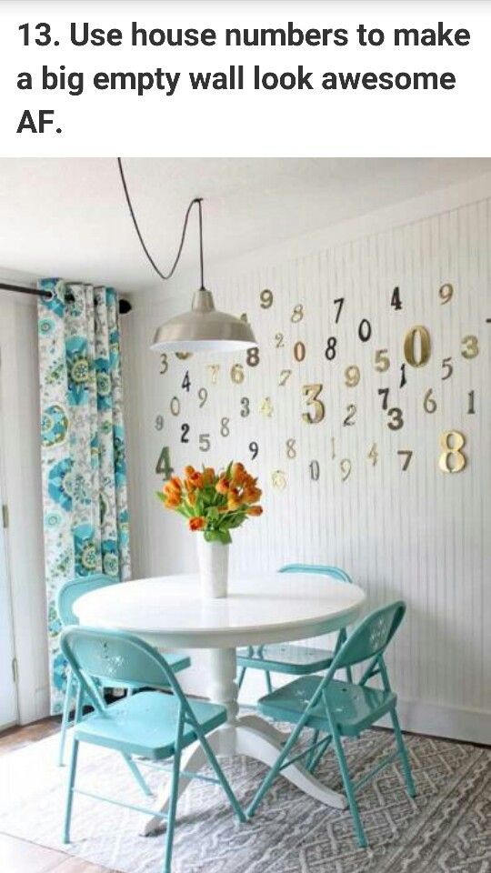 House numbers to make a blank wall look nice!