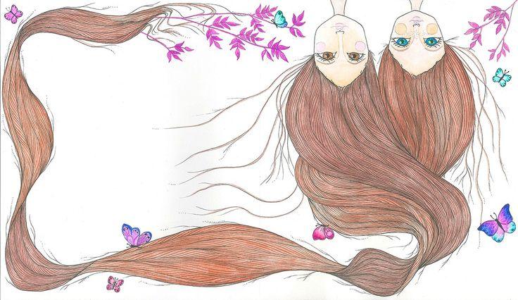 Sebaj haj! watercolor by Bencze Anita Turquoise Janina illustration