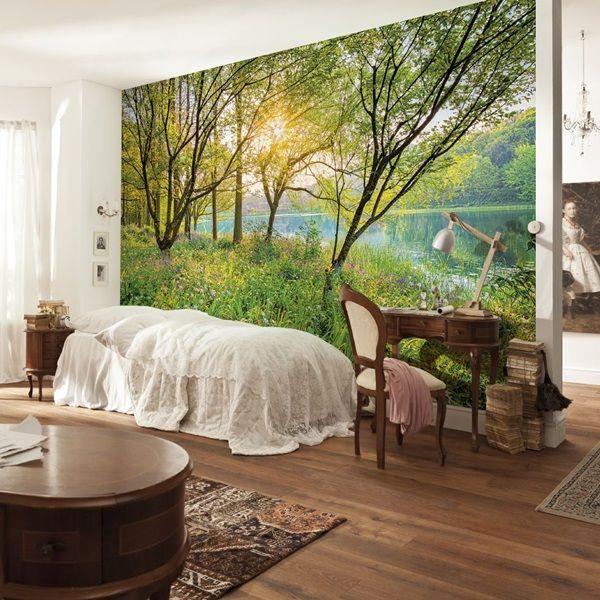 M s de 1000 ideas sobre decoraci n de paredes para patios - Papel pintado paisajes ...