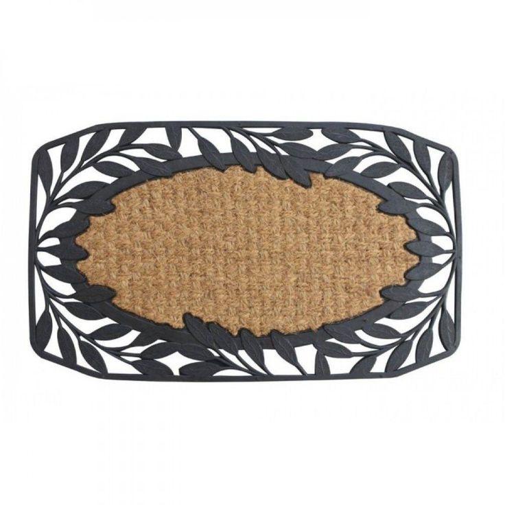 Vine Leaves Welcome Mat Door Floor Rug Dirt Entry Home Room Coir Rubber Black #SummerfieldTerrace