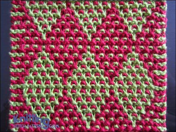Garter Stitch Mosaic  |  knittingstitchpatterns.com