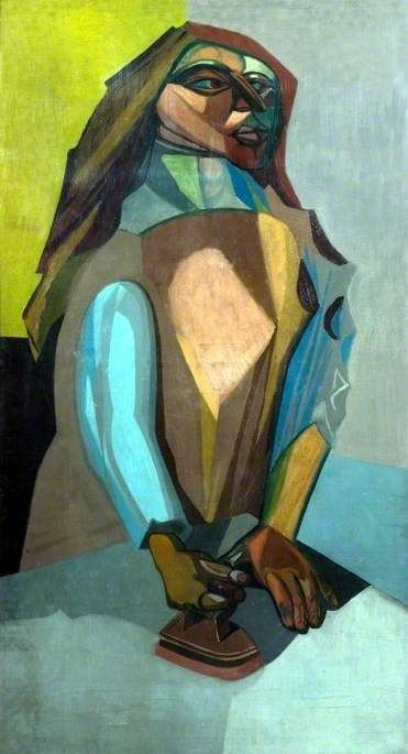 robert colquhoun(1914–62), woman ironing, 1958. oil on canvas, 156.9 x 90.4 cm. leicestershire county council artworks collection http://www.bbc.co.uk/arts/yourpaintings/paintings/woman-ironing-82658
