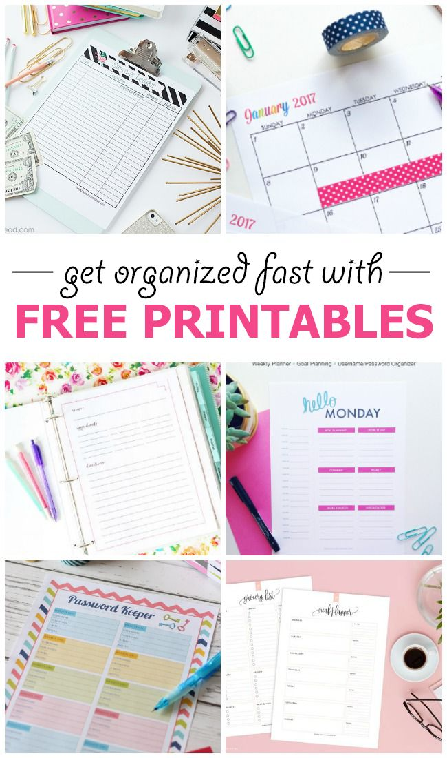 10 Gorgeous Free Printables to help get you organized.