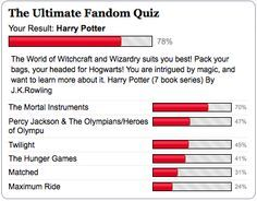 I got Harry Potter!!!! My next two were Percy Jackson and Hunger Games